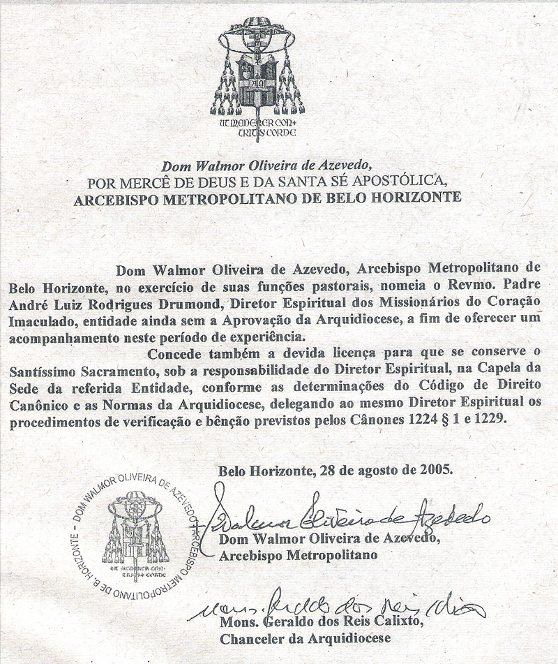 Licença Dom Walmor