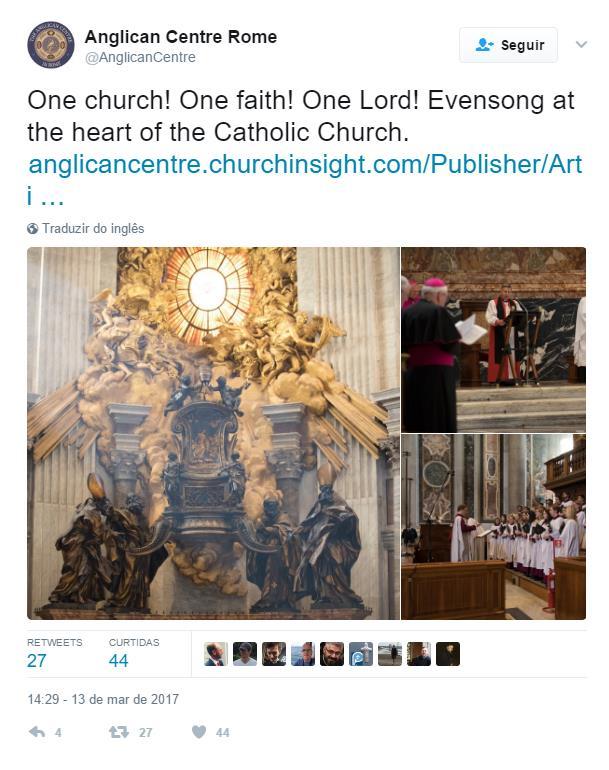 Cerimônia anglicana na Basílica